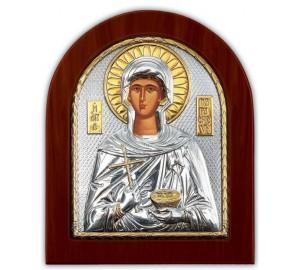 Святая Параскева - икона с серебром и позолотой (GOLD)