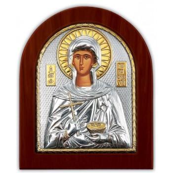 Свята Параскева - ікона з сріблом та позолотою (GOLD)