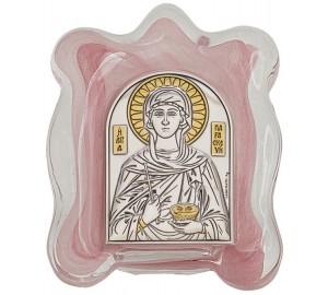 Святая Параскева - Икона в муранском стекле с серебром и позолотой (EK1MAG - Святая Параскева)
