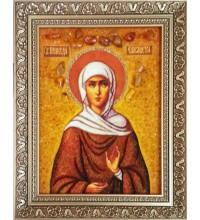 Свята праведна Єлисавета (Єлизавета) - ікона з янтаря (ар-235)