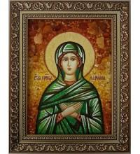 Святая праведная Мариамна - янтарная икона (ар-315)