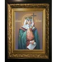 Святая Равноапостольная Княгиня Ольга - Изысканная Писаная Икона (сч-09)