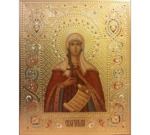 Святая Татиана (Татьяна) - красивая писаная икона (Дм-24)