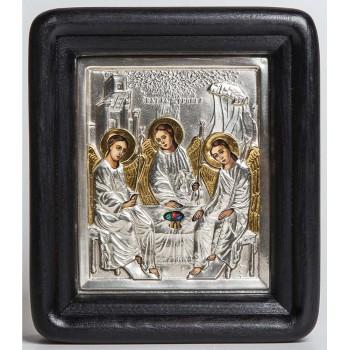 Свята Трійця - ікона писана з сріблом (хм-16)