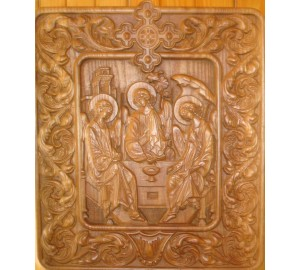 Святая Троица  - резная икона (р-11)