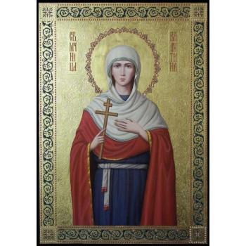 Святая великомученица Валентина - Неповторимая писаная икона (ир-20)