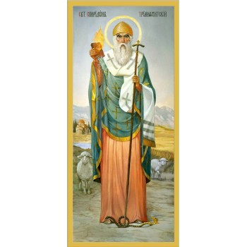 Святитель Спиридон Тримифунтский - писаная икона (еи-02)