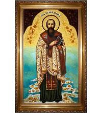 Святитель Василий Великий - икона из янтаря (ар-58)