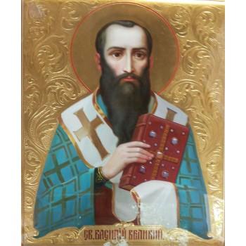 Святитель Василий Великий - писаная икона (хм-22)