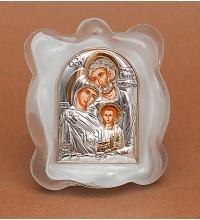 Святое Семейство - Икона в муранском стекле с серебром и позолотой (EK1MAG-Семейство)