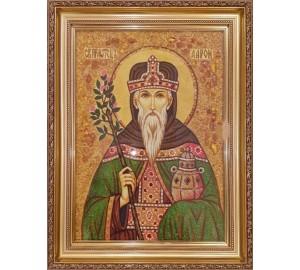 Святой Аарон Первосвященник - икона из янтаря (ар-383)