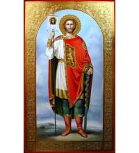 Святой Александр Невский - писаная икона (Гр-68)