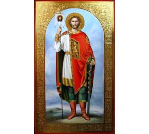 Святий Олександр Невський - ікона писана (Гр-68)