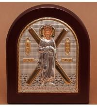 Святой Апостол Андрей Первозванный - Греческая икона с серебром и позолотой (GOLD)