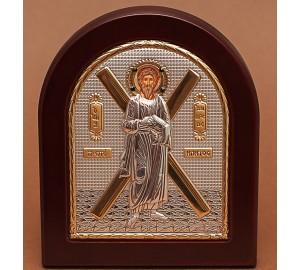 Святий Апостол Андрій Первозванний - Грецька ікона зі сріблом та позолотою (GOLD)