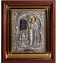 Святий Апостол Андрій Первозванний - ікона з сріблом і позолотою в дубовому кіоті (юо-16)