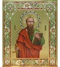 Святой апостол Павел - писаная икона, сусальное золото (Дм-08)