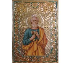 Святой апостол Петр - писаная икона (Дм-02)
