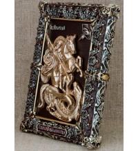 Святой Георгий Победоносец - Эксклюзивная настольная икона (Ос-МГП33)