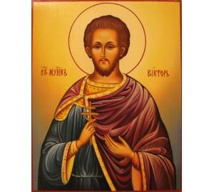Святой мученик Виктор Дамасский - писаная икона (Гр-53)