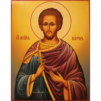 Святий мученик Віктор Дамаський - ікона писана (Г-53)