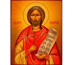 Святой Назарий - писаная икона (гр-49)