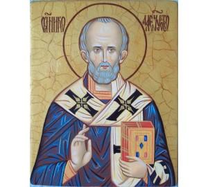 Святой Николай чудотворец - изысканная писаная икона (Гр-24)