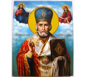 Святой Николай Чудотворец - писаная икона (Гр-82)
