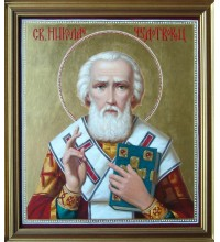 Святой Николай Чудотворец - Писаная Икона (ир-8)