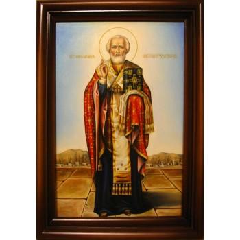 Святой Николай - красивая писаная икона (Гр-29)