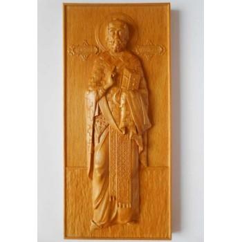 Святой Николай - Резная деревянная икона (р-01)
