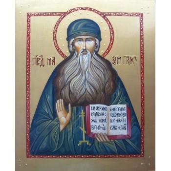 Святой преподобный Максим Грек - писаная икона (гр-62)