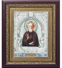 Святой Преподобный Сергий Радонежский - красивая икона, с серебром (k-25)