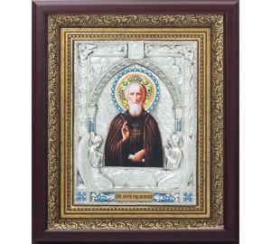 Святий Преподобний Сергій Радонезький - красива ікона, з сріблом (k-25)