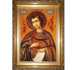 Святий пророк Даниїл - ікона з янтаря (ар-293)