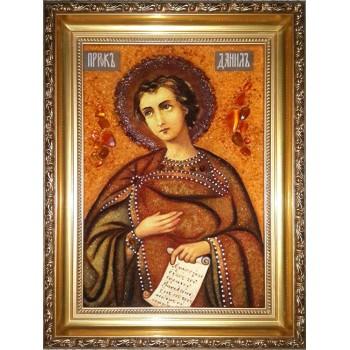 Святой пророк Даниил - икона из янтаря (ар-293)