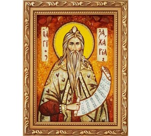 Святой пророк Захария - янтарная икона (ар-337)