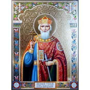 Святой равноапостольный князь Владимир - писаная икона (ВЧ-18)