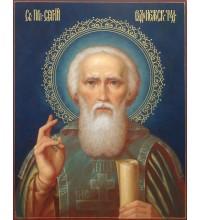 Святой Сергий Радонежский - писаная икона (ир-34)