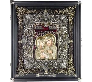 Святі Петро і Февронія - Ексклюзивна ікона ручної роботи (Ос-ПФ13)