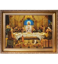Таємна вечеря - Красива ікона з бурштина (ар-28)