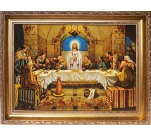 Тайная вечеря - Красивая икона из янтаря (ар-28)