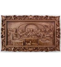 Тайная Вечеря - шикарная икона из дерева с резьбой (ДВ-ТВ)