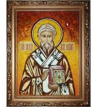 Тарасий Константинопольский - икона из янтаря (ар-85)