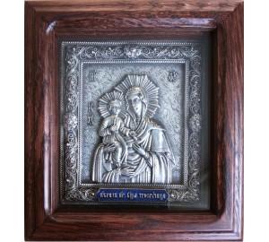 Троеручица - икона с посеребрением (юл-21)