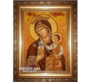 Тучная Гора - икона Богородицы, из янтаря (ар-165)
