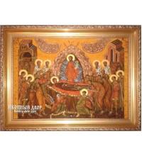 Успіння Пресвятої Богородиці - ікона з янтаря (ар-170)
