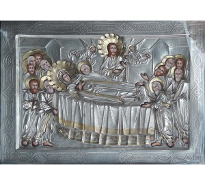 Успение Пресвятой Богородицы - икона с серебром (хм-53)