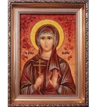 Валерия - Качественная именная икона из янтаря (ари-27)