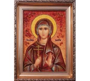Валерія - Якісна іменна ікона з янтарем (арі-27)